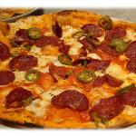  Our speciality, the hot &quot;Pizza Diavola&quot;