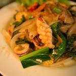 So enjoy with Flat noodle seafood with green pepper corn!!