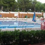 Pool area was large, with plenty of sun loungers