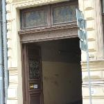  The entry on the street
