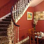  Westbourne House grand stairway and breakfast nook