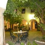  La Almoraima inner courtyard late evening