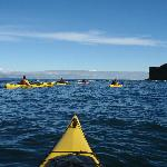 Kayaking near bachelor rock, Strait of Juan de Fuca in Port Angeles