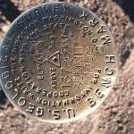 Geological Survey Bench Mark Disk
