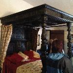 The rather impressive four poster bed - haunted? You decide...