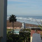 Window view of hotel de la corniche in Casablanca