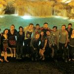  group photo op at the Trevi Fountain (other traveler&#39;s from hostel)
