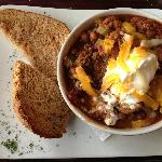 Bison Chili with Sour Cream - RECOMMEND OMG