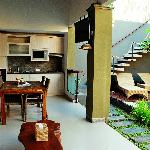 Kitchen and Dining area on side pool