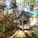 Exterior of White Pines cabin