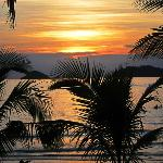  Sunset seen from front porch of a beachfront bungalow