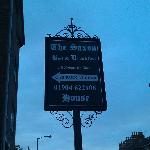 The sign outside