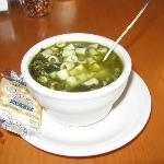 Spinach and Egg Drop Soup - a little salty