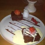 delicious chocolate brownies well presented!