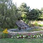 The lovely waterfall in the Sensory Garden
