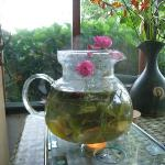 Tea of fresh herbs and flowers!
