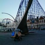  Blackpool illuminations and fun park within walking distance