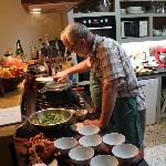 Martin at work in his kitchen