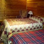 Twin room in the chalet.