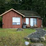 Cabins - one is a double with BBQ & hot tub, some are singles with BBQ.