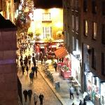  overlooking temple bar nightlife.