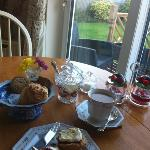 scrummy cream tea!