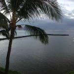 view from lanai at sunrise