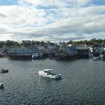  View of Boothbay Harbor from my room