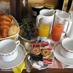 In-room breakfast at Hotel Bristol for 10 euros each. Also came with yogurt, not pictured.