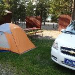  My rental car and tent
