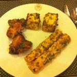 Seek Kebab, marinated chicken and Paneer tandoor