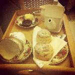 Cream tea on arrival