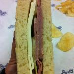 Best Roastbeef ,provolone and pickle sandwich on sourdough bread!