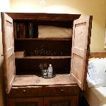 Armoire in the bedroom