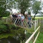 Some of our guests discovering the beautiful Hildersham