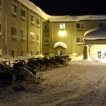  Winterstimmung vor dem Hotel &quot;COMFORT INN&quot;