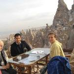 Us & the host Cem, on Konak Terrace