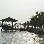 View from the landing jetty , next to the hotel