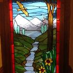 beautiful stainglass windows at Hawklee