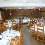 Dining area set up for Wedding Celebration Meal