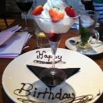 my birthday pudding