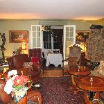 Parlor and entrance to dining area