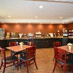  Large breakfast counter space with assortment of delicious foods!