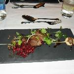 pigeon breast with beetroot and chorizo salsa