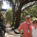 Me and Bobby (no not McGee) on a typical street in the Historic District
