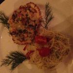 Crab Linguine (served in the shell).