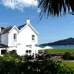 The Glenisle Hotel with views across Lamlash Bay to the Holy Isle