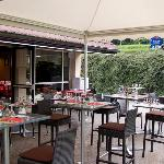 Terrace of the Comfort Hotel Lons le Saunier