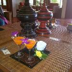 Welcome cocktail at Oasis Baan