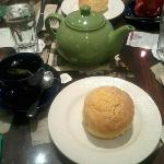 ensymada paired with mint tea = perfect combi